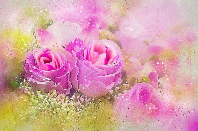 Hochzeitsblumen in Rosa